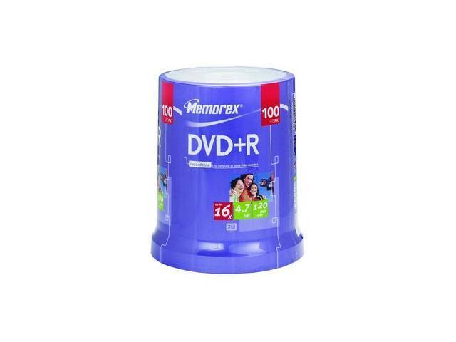 memorex 4.7GB 16X DVD+R Inkjet Printable 100 Packs Disc Model 32025623