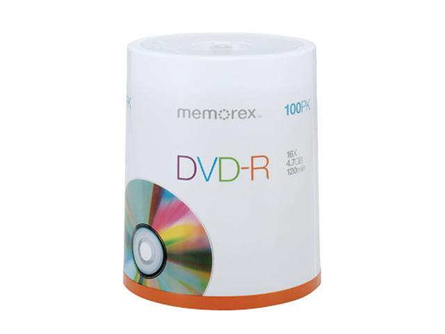 memorex 4.7GB 16X DVD-R 100 Packs Disc Model 05641