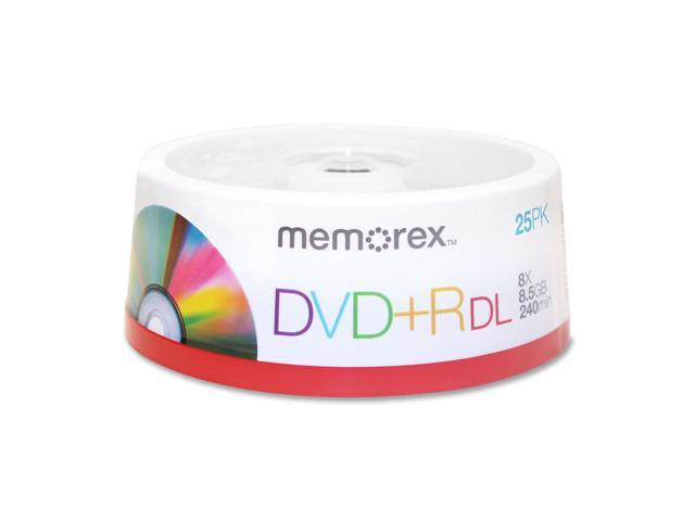 memorex 8.5GB 2.4X to 8X Write Speed DVD+R DL 25 Packs Disc Model 05712