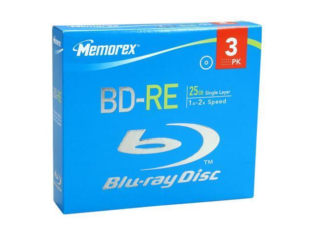 memorex 25GB 2X BD-RE 3 Packs Disc Model 97947