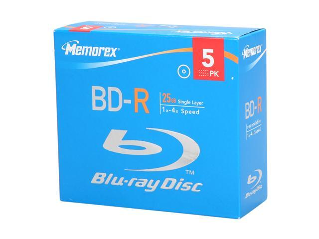 memorex 25GB 4X BD-R 5 Packs Disc Model 97948