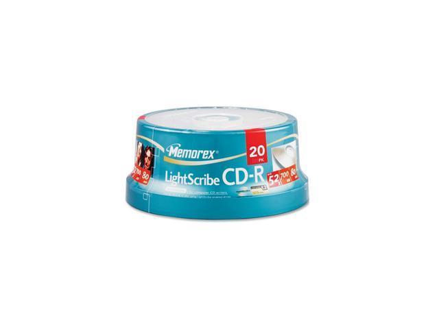 memorex 700MB 52X CD-R LightScribe 20 Packs Disc Model 04732