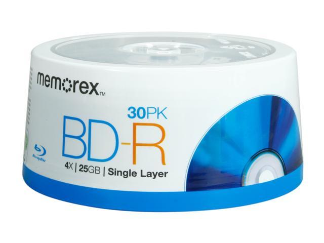 memorex 25GB 4X BD-R 30 Packs Disc Model 98499