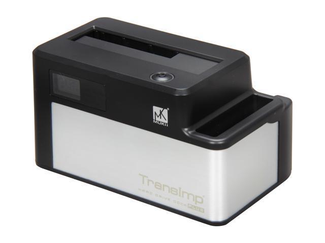 Mukii TransImp TIP-D185U3-BK Black / Silver Super-Speed Docking with Transmission Speed LCD