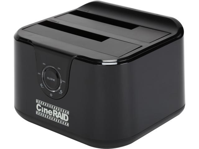 CineRAID CR-H236 USB 3.0 Standalone Hard Drive Duplicator & USB 3.0 Dual Hard Drive Docking Station