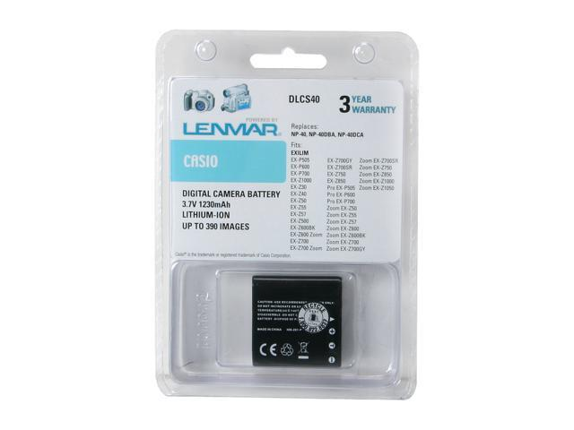 LENMAR DLCS40 1-Pack 1230mAh Li-Ion Replacement Battery for Casio NP-40