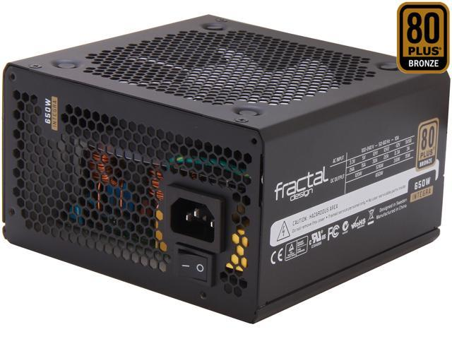 Fractal Design Integra R2 650W ATX12V SLI Ready CrossFire Ready 80 PLUS BRONZE Certified Power Supply
