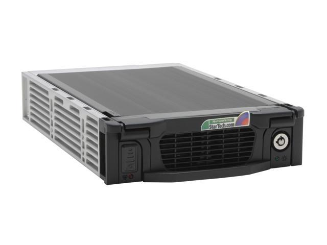 StarTech DRW115SATBK Black Aluminum 5.25in Professional SATA Hard Drive Mobile Rack Drawer