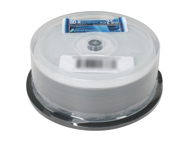 Optical Quantum 25GB 6X BD-R Inkjet Printable 25 Packs Disc Model OQBDR06WIP-H-25