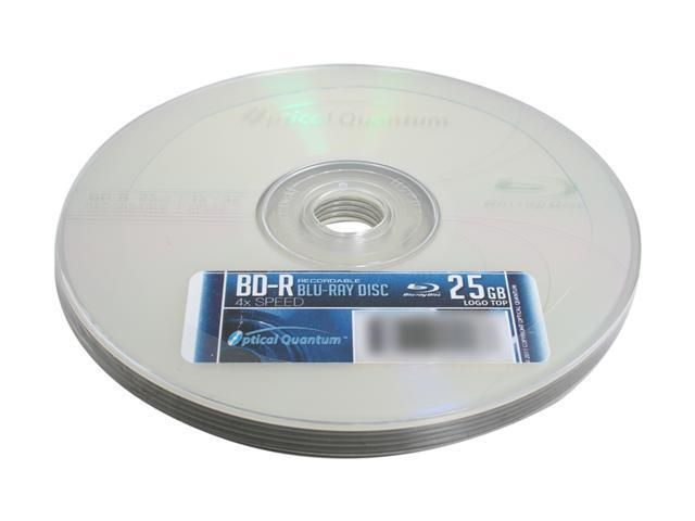 Optical Quantum 25GB 4X BD-R 5 Packs Disc Model OBBDR04LT-05