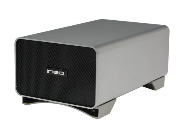 INEO I-NA309D Pro Silver/Grey Dual Bay RAID Enclosure