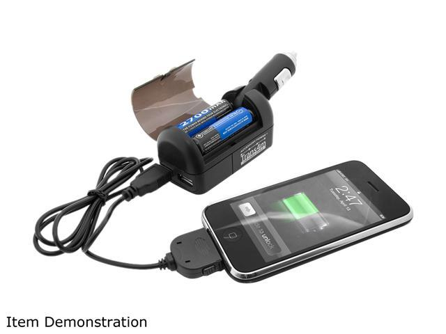 Accessory Power Black MultiSource USB Charger w/ iPhone, MicroUSB & MiniUSB Cable (CH-TRANS4M)
