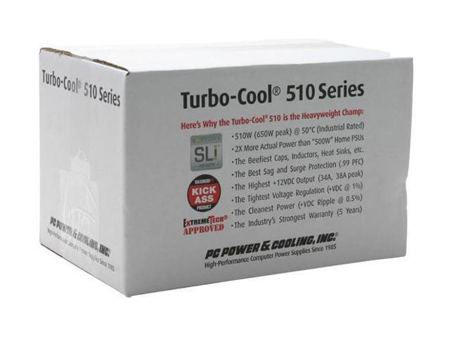 PC Power and Cooling Turbo-Cool 510-SLI 510W Continuous @ 50°C Power Supply