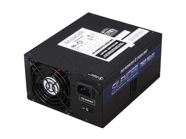PC Power and Cooling Silencer 760W PPCS760 Max 760W, Peak 836W Power Supply Compatible with Core i5 & i7