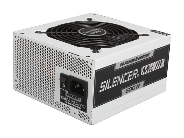PC Power & Cooling Silencer Series PPCMK3S600 600 Watt (600W) 80 Plus Bronze Semi-Modular Active PFC ATX PC Power Supply Industrial Grade