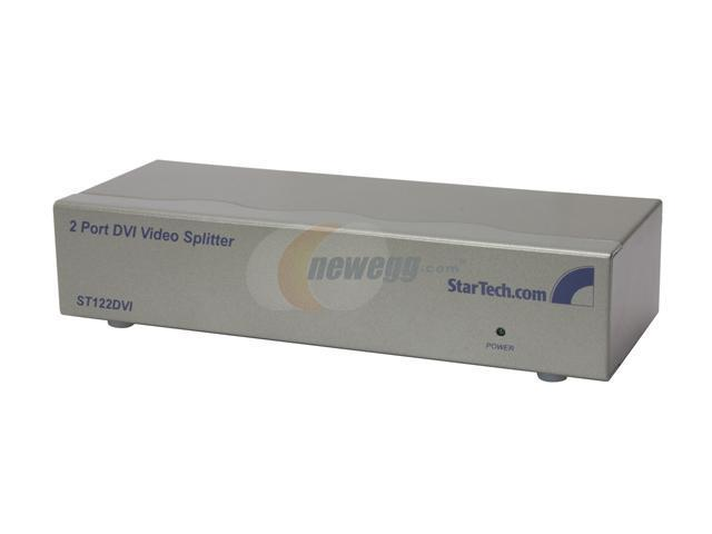 StarTech ST122DVI 2 Port DVI Video Splitter / Distribution Amplifier