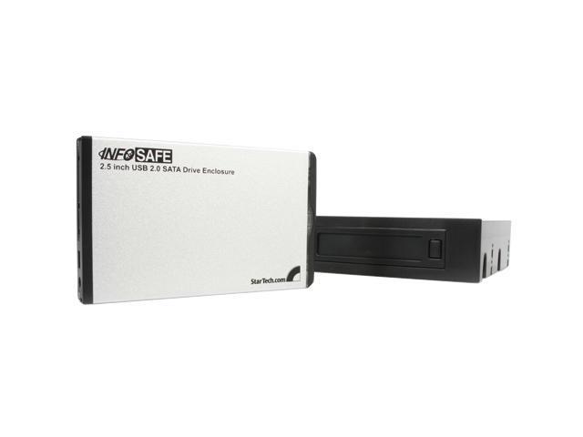 StarTech 2.5in SATA External Hard Drive Enclosure w/ 3.5/5.25 Front Drive Bay