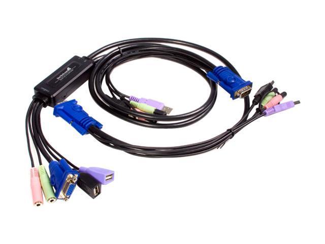 StarTech SV215MICUSBA 2 Port USB VGA KVM Switch with Audio