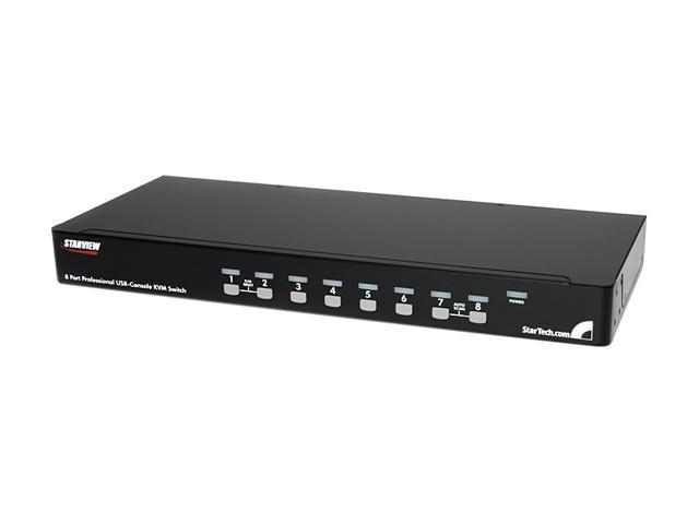 StarTech SV831DUSBUK 8 Port 1U Rack Mount USB KVM Switch Kit with OSD and Cables