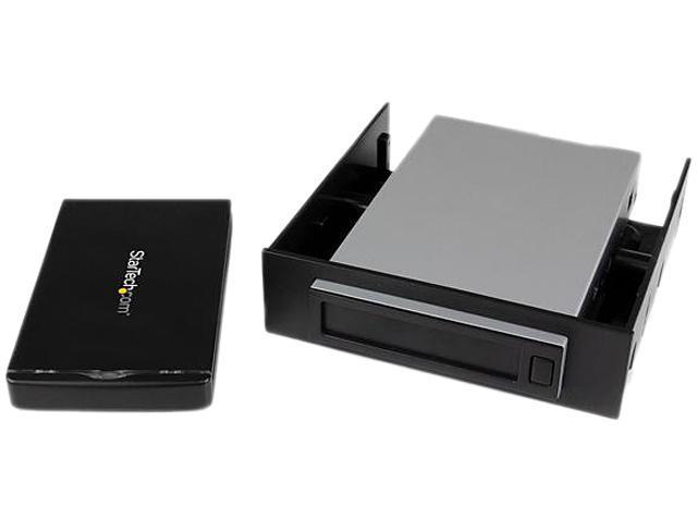 StarTech Black SATA I/II/III 1 - SATA Data & Power Combo (7+15 pin) Plug    1 - USB 3.0 Micro-B (10 pin; SuperSpeed) Female External Enclosure
