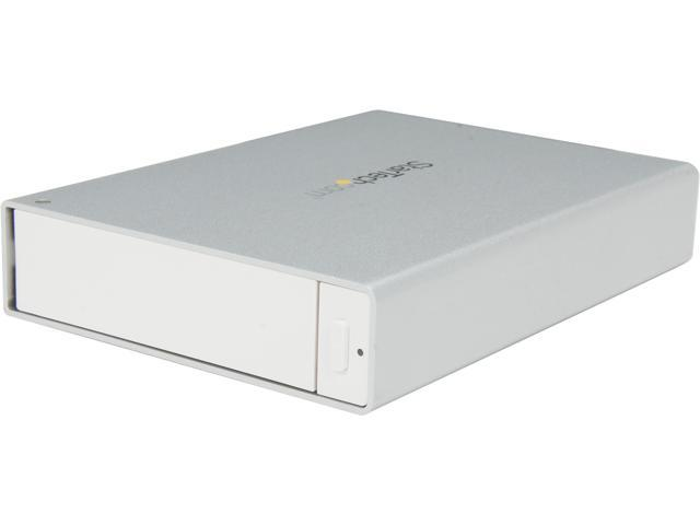 StarTech.com USB 3.0 Trayless External 3.5-Inch SATA III HDD Enclosure with UASP - White (S3510WMU33T)