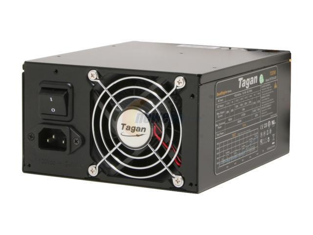 Tagan TG500-U25 500W ATX12V / EPS12V SLI Ready 80 PLUS Certified Active PFC Power Supply