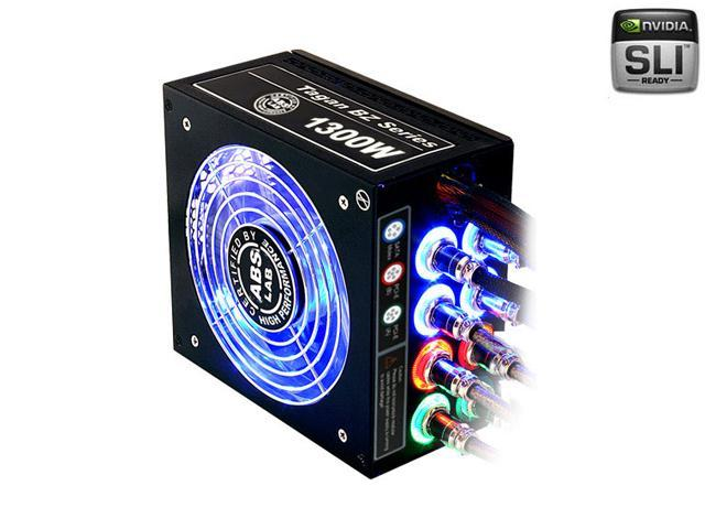 ABS Tagan BZ Series BZ1300 1300W ATX12V / EPS12V SLI Ready CrossFire Ready PipeRock type modular cable with colorful LED Active PFC Patent Piperock Modular Power Supply