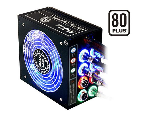 ABS Tagan BZ Series BZ700 700W ATX12V / EPS12V SLI Ready CrossFire Ready 80 PLUS Certified PipeRock type modular cable with colorful LED Active PFC Patent Piperock Modular Power Supply