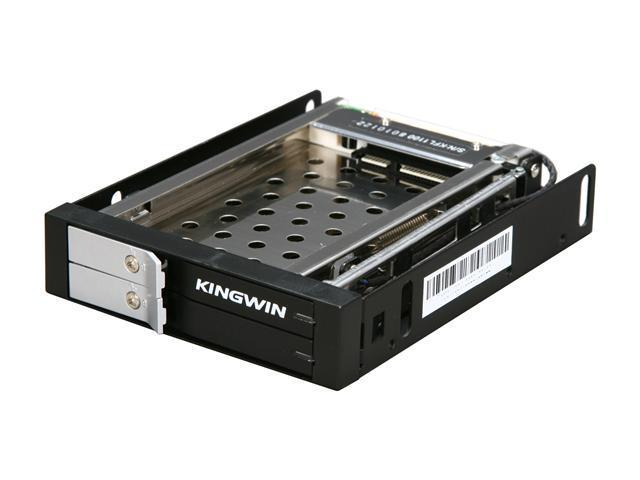 "KINGWIN KF-251-BK 2.5"" Dual Bay SATA Internal Hot Swap Rack w/ Keylock"