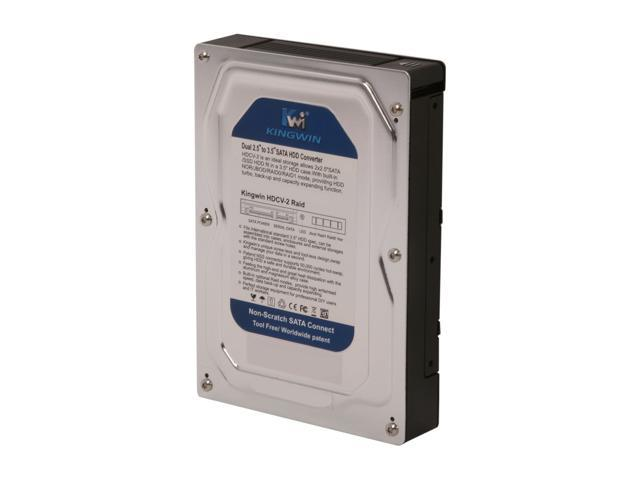 """KINGWIN HDCV-2 Dual 2.5"""" to 3.5"""" SATA HDD Converter w/ Raid"""