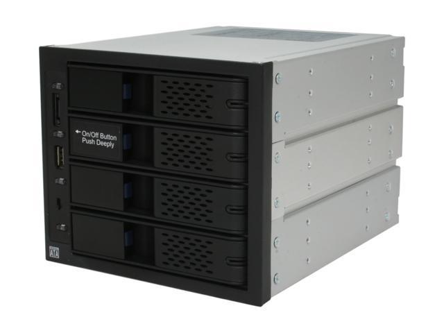 ICY DOCK MB974SP-B Tray-less 4 in 3 SATA I/II/III Hot-Swap Backplane RAID Cage Module w/ eSATA&USB2.0