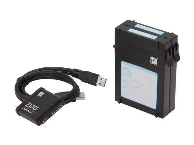 """Mukii ZIO-P215U3S-BK 2.5"""" HDD Protector Case with SATA to USB3 Quick Cable (2pcs Pack) -Black"""
