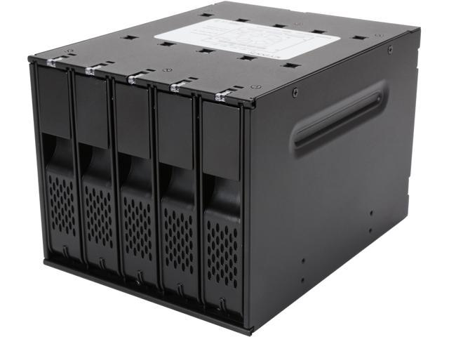 ICY DOCK Tray-less 5 Bay 3.5 SATA Hard Drive Hot Swap Backplane / Cage / Mobile Rack in 3 x 5.25 Drive Bay - FlexCage MB975SP-B R1