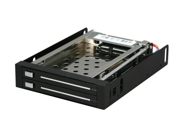 "Rosewill RX-C202 3.5"" SATA Trayless Hot Swap Mobile Rack for Dual 2.5"" SATA SSD / HDD"