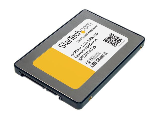 StarTech SAT2MSAT25 2.5in SATA to Mini SATA SSD Adapter Enclosure