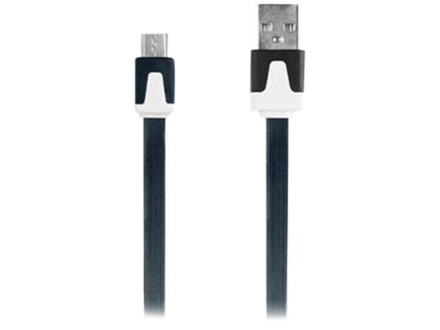 3.3 Flat Micro USB Cable Blk