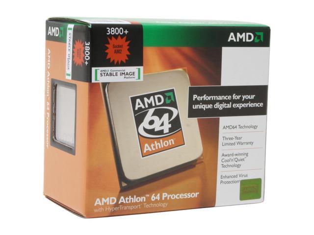 AMD Athlon 64 3800+ Orleans Single-Core 2.4 GHz Socket AM2 59W ADA3800CWBOX Processor