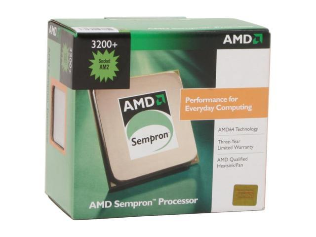 AMD Sempron 64 3200+ Manila Single-Core 1.8 GHz Socket AM2 SDA3200CWBOX Processor