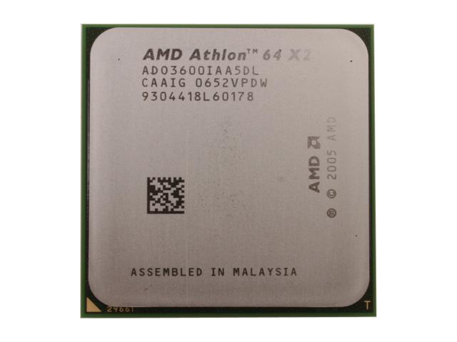 AMD Athlon 64 X2 3600+ Brisbane Dual-Core 1.9 GHz Socket AM2 ADO3600IAA5DL Processor