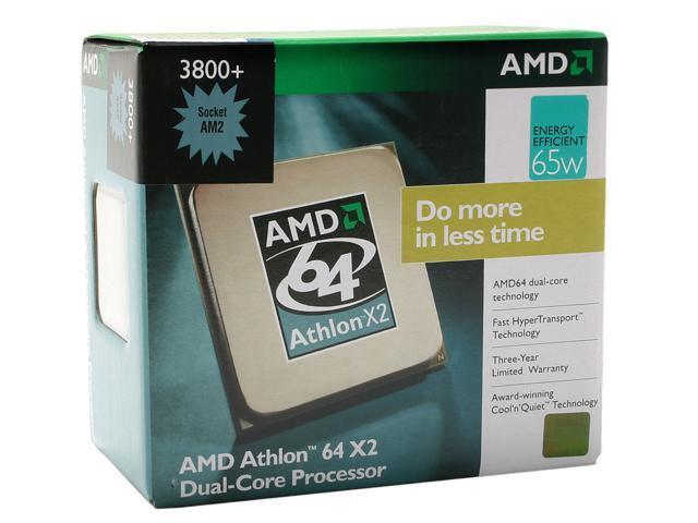 AMD Athlon 64 X2 3800+ Windsor Dual-Core 2.0 GHz Socket AM2 65W ADO3800CZBOX Processor