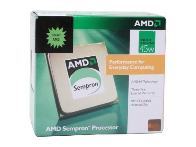 AMD Sempron LE-1250 Sparta Single-Core 2.2 GHz Socket AM2 45W SDH1250DPBOX Processor