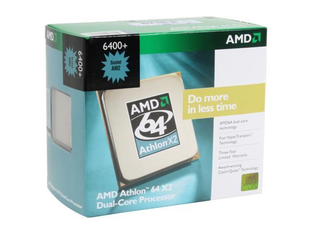AMD Athlon 64 X2 6400+ Windsor Dual-Core 3.2 GHz Socket AM2 125W ADX6400CZBOX Processor