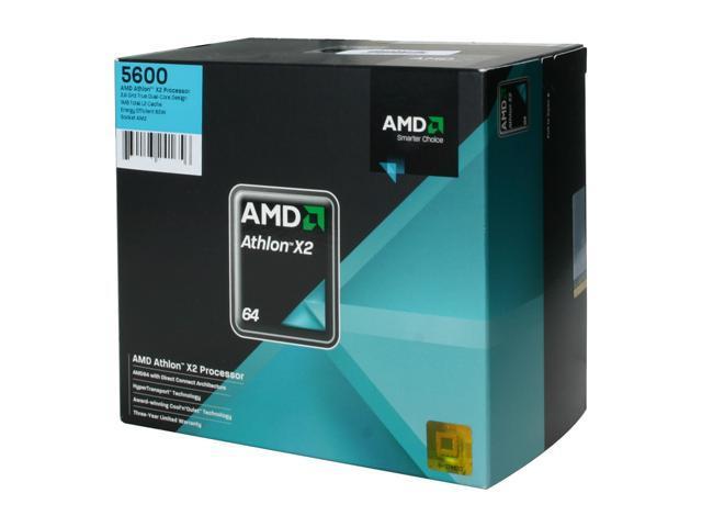 AMD Athlon 64 X2 5600 Brisbane Dual-Core 2.9 GHz Socket AM2 65W ADO5600DOBOX Processor