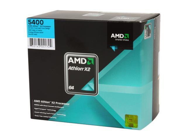 AMD Athlon 64 X2 5400+ 2.8 GHz Socket AM2 ADO5400DOBOX Processor