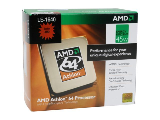 AMD Athlon 64 LE-1640 Orleans Single-Core 2.6 GHz Socket AM2 45W ADH1640DHBOX Processor