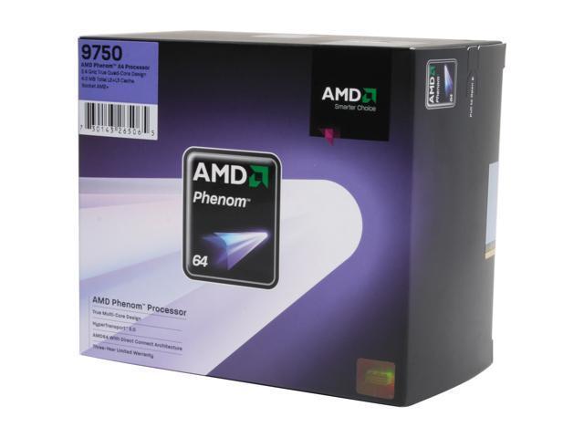 AMD Phenom 9750 Quad-Core 2.4 GHz Socket AM2+ 125W HD9750XAGHBOX Processor