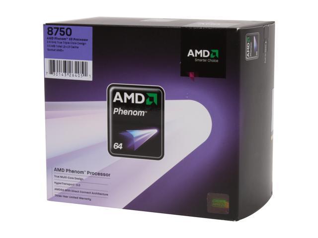 AMD Phenom X3 8750 Toliman Triple-Core 2.4 GHz Socket AM2+ 95W HD8750WCGHBOX Processor