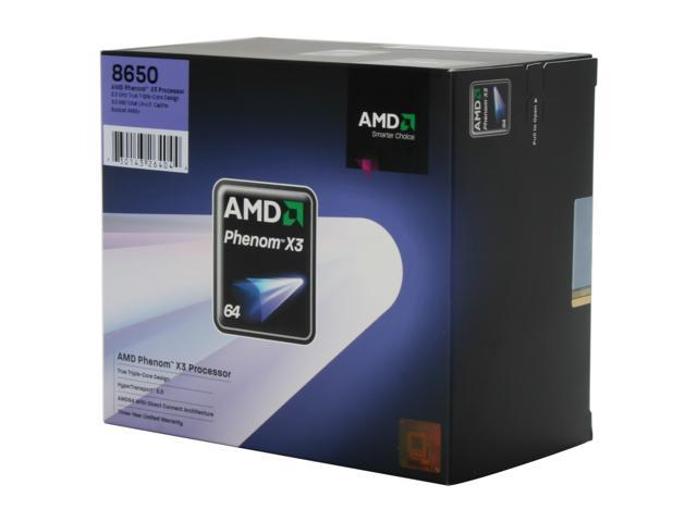 AMD Phenom 8650 Toliman Triple-Core 2.3 GHz Socket AM2+ 95W HD8650WCGHBOX Processor