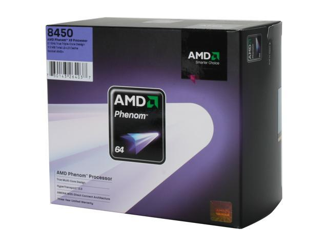 AMD Phenom 8450 Toliman Triple-Core 2.1 GHz Socket AM2+ 95W HD8450WCGHBOX Processor
