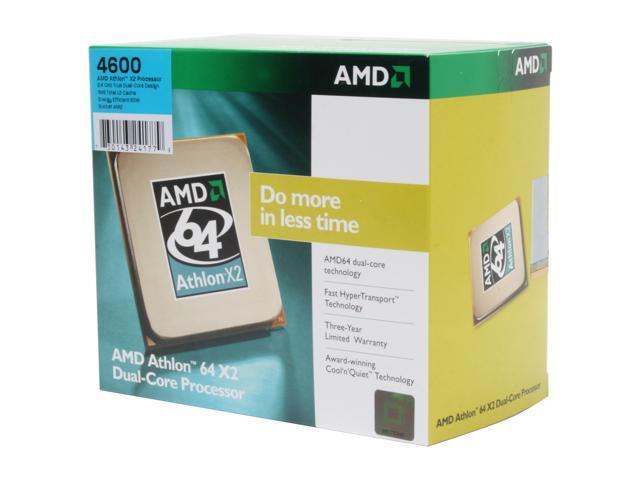 AMD Athlon 64 X2 4600+ 2.4 GHz Socket AM2 ADO4600DOBOX Processor